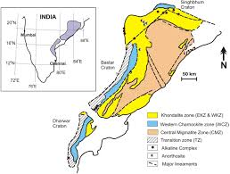eastern ghats the eastern ghats belt india in the context of supercontinent