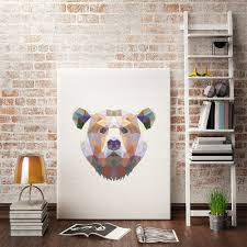 colormix bear painting printing canvas wall decor for home