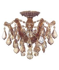Crystal Flush Mount Lighting Crystorama 4430 Maria Theresa 14 Inch Wide Semi Flush Mount