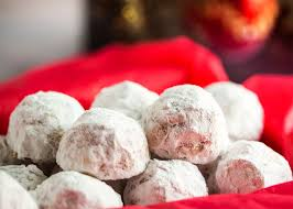 pecan snowball cookies just a little bit of bacon