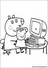 peppa pig coloring pages a4 peppa pig coloring pages on coloring book info