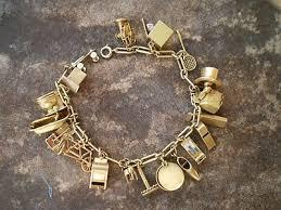 bracelet charms ebay images Vintage gold charm bracelet 1930s 1940s 3d 14k 18k 10k yellow 18 jpg