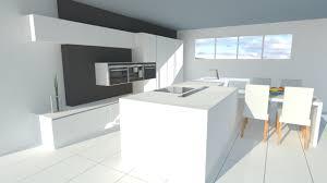 cuisine moderne ilot cuisine moderne laquée blanc brillant avec îlot 3d warehouse