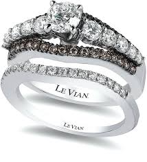 chocolate wedding ring set le vian engagement rings bridal chocolate and