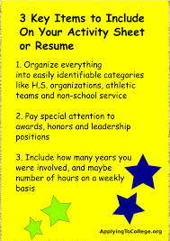 College Activities Resume Template Should You Include A Resume With Your College Application