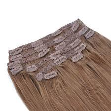 Light Brown Hair Extensions Gex Human Hair Clip In Extensions Light Brown Color Gexworldwide