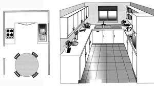 amenagement cuisine rectangulaire agencement cuisine plan cuisine gratuit pour sinspirer ct