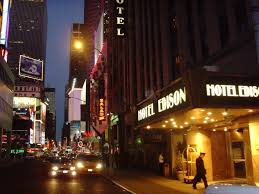 New York City Time Square Map by Hotel Edison At Times Square
