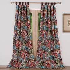 Tab Top Sheer Curtain Panels Greenland Home Fashions Tivoli Paisley Sheer Tab Top Curtain