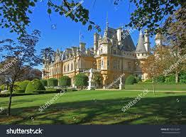 waddesdon manor waddesdon manor house gardens buckinghamshire house stock photo