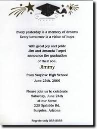 graduation quotes for invitations high school graduation party invitation wording template bes with