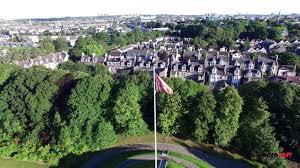 duthie park aberdeen drone footage aeroserv youtube