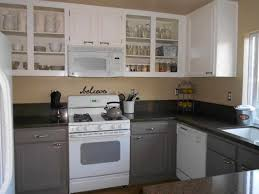 Painted Kitchen Cabinet Color Ideas Brown Painted Kitchen Cabinets Before And After Caruba Info