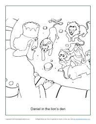 daniel in the lion u0027s den coloring page