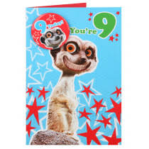 9th kids 1 12 birthday cards cards clintons
