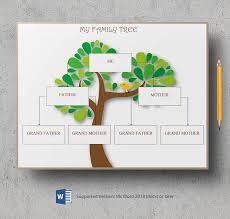 8 free family tree templates three generation inversed large