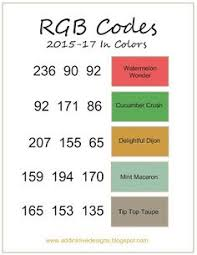 rgb codes for 2017 2019 in colors kelly kent mypapercraftjourney