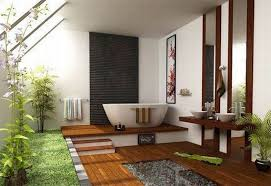 Zen Bathroom Design by Colorful Japanese Style Bathroom Design With Large Mirrors Home