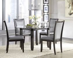 gray round dining table set dining table modern grey dining table room chairs round concrete