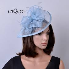 hair accessories melbourne 2017 new 31 colours hot pale blue feather sinamay fascinator hat