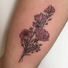 september birth flower tattoos popsugar