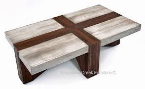 rustic modern coffee table concrete and wood coffee table furniture pinterest wood coffee