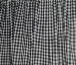 Black And White Checkered Curtains Window Curtain Valance Made From Black White Gingham