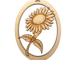 sunflower ornament etsy