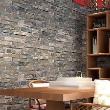 3d Wallpaper For Living Room by Aliexpress Com Buy Great Wall 3d Pvc Modern Brick Wallpaper For