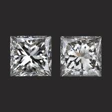 3mm diamond 1 2 carat j vs princess cut diamonds pair stud earrings