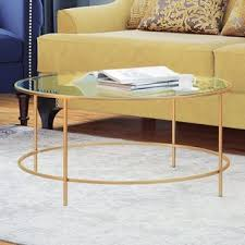 round gold glass coffee table gold coffee tables you ll love wayfair