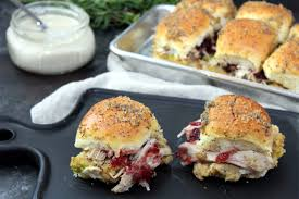thanksgiving leftover turkey and dressing sliders addicted to recipes