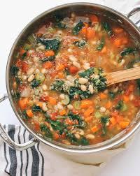 Butternut Squash And White Bean Soup Kale Quinoa U0026 White Bean Soup The Simple Veganista
