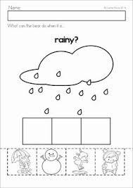 Kindergarten Weather Worksheets 36 Best Weather Images On Preschool Weather Weather