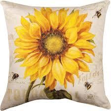 amazon com decorative pillows provencal sunflower pillow 18