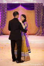 engagement lengha indian engagement party in purple and gold by photography