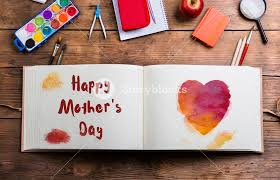 photo album supplies mothers day composition photo album with watercolor heart and