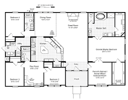 floor layout view the hacienda ii floor plan for a 2580 sq ft palm harbor
