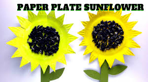how to make a paper plate sunflower youtube