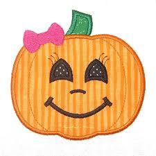 girly pumpkin faces clipart collection