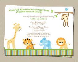jungle baby shower invitation safari theme invite print at home