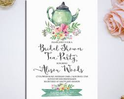 bridal tea party invitation floral bridal shower tea party invitation printable bridal