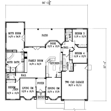 adobe southwestern style house plan 4 beds 3 00 baths 2735 sq