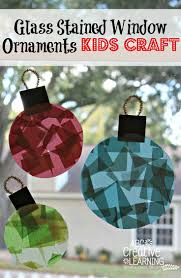 glass stained window ornaments craft motor skills ornament