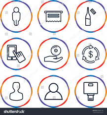 app icons set set 9 app stock vector 630987182 shutterstock
