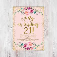 printable birthday invitations uk 21st birthday invitation printable birthday floral girly blush