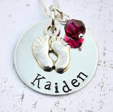 footprint necklace personalized personalized necklace baby loveitpersonalized