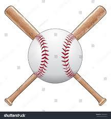 baseball bats illustration baseball softball two stock vector