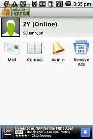 hotmail app for android windows live hotmail push mail for android free at apk