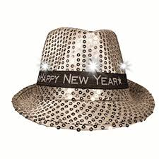 led new years led new years fedora hat health personal care